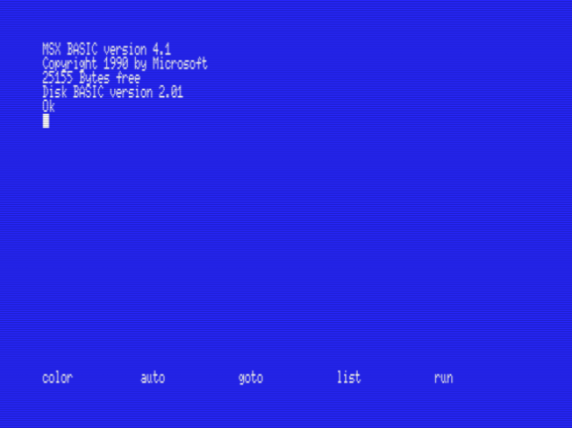 openMSX_Panasonic_FS-A1GT_BASIC:SCREEN_0