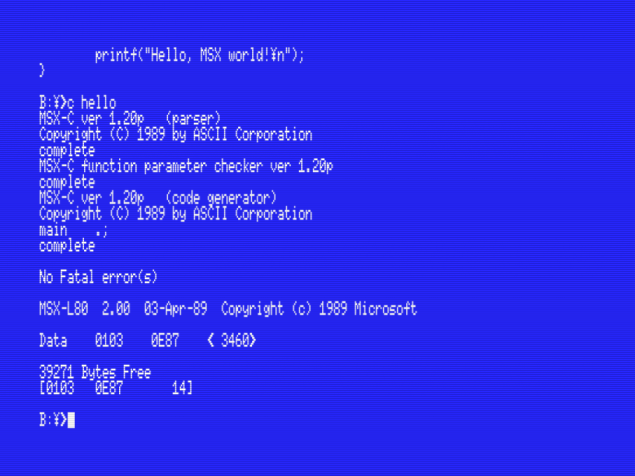 Relearning msx 12 setting up the msx c Compilation c