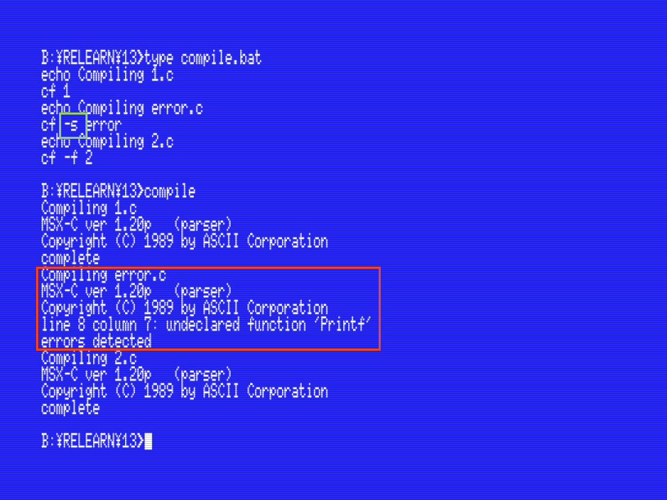 Relearning msx 13 msx c commands cf com Compilation c