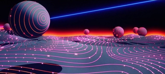 Screenshot from the original Tron movie